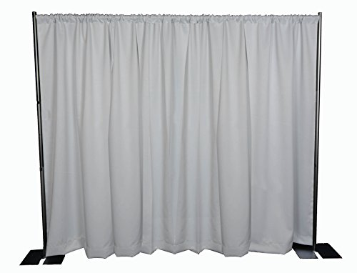 OnlineEEI Black Powdercoat Portable Pipe and Drape Backdrop Kit, No Drapes by OnlineEEI
