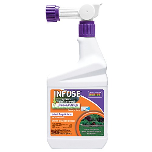- BONIDE PRODUCTS INC 150 Infuse Lawn and Landscape Systemic Disease Control Ready to Spray Fungicide, 32 oz, Clear