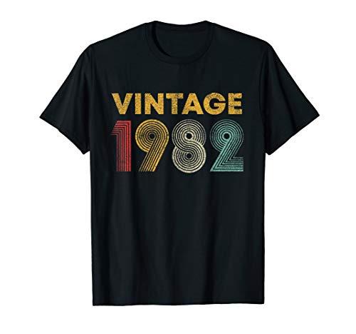 37th Birthday Gift Idea Vintage 1982 T-Shirt Men Women