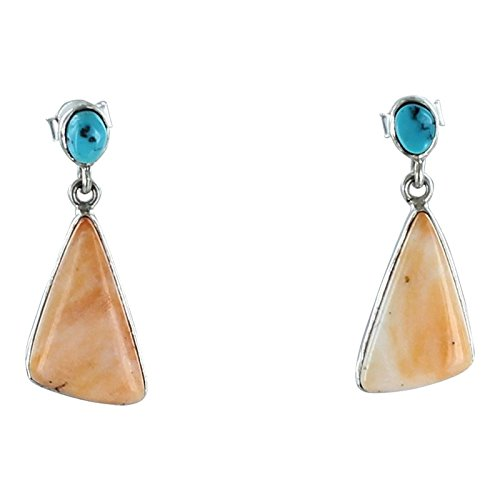 Sterling Spiny Oyster (KINGMAN TURQUOISE SPINY OYSTER STERLING EARRINGS #2)