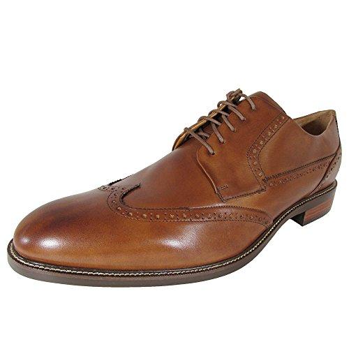 Cole Haan Mens Warren Wingtip Oxford Shoes, British Tan, US 14 W