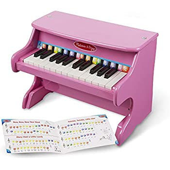 Melissa Doug Learn To Play Pink Piano 25 Keys Color Coded Songbook Great Gift For Girls And Boys Best For 3 4 And 5 Year Olds