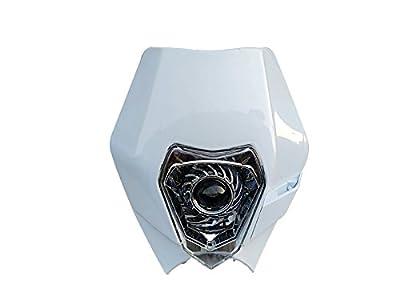 White Universal LED Street fighter Vision Headlight Fairing Dirt bike For Honda Yamaha Kawasaki Suzuki Motorcycle
