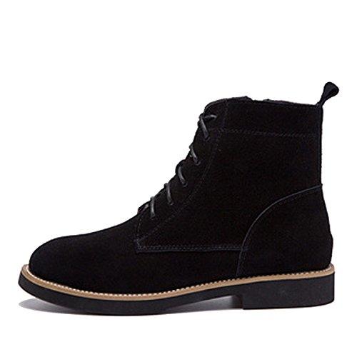 35 Größe Freizeit Schuhe Damen WJNKK Stiefeletten Große Leder Frauen Flache Retro 39 Neue Modische SHnxnUq7