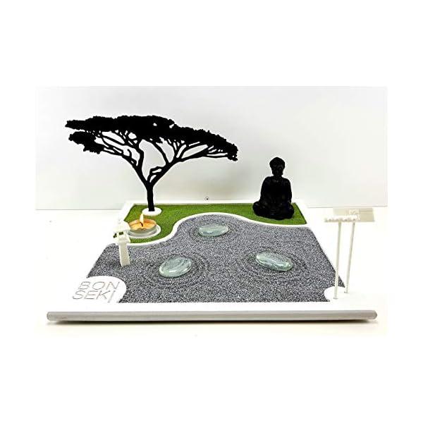 Bonseki® Giardino Zen da tavolo 30 x 30 in legno, proietta l'ombra del bonsai sulla parete, personalizzabile. 7 spesavip