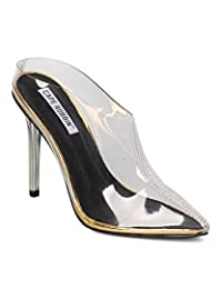 Women Pointy Toe Lucite Stiletto - Dressy, Costume, Party - Lucite Stiletto Mule - GE33 By Cape Robbin