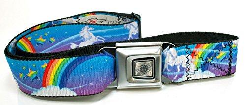 Buckle-Down Unicorns and Rainbows Seatbelt Belt