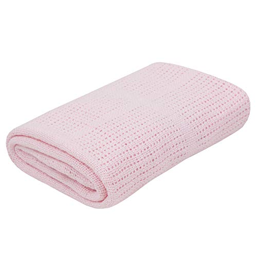 Babytown Baby Boys and Girls Soft Cotton Cellular Blankets Pink