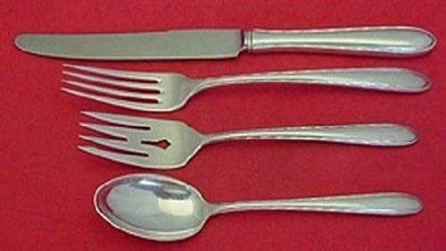 Silver Flutes By Towle Sterling Silver Dinner Size Place Setting(s) 4pc
