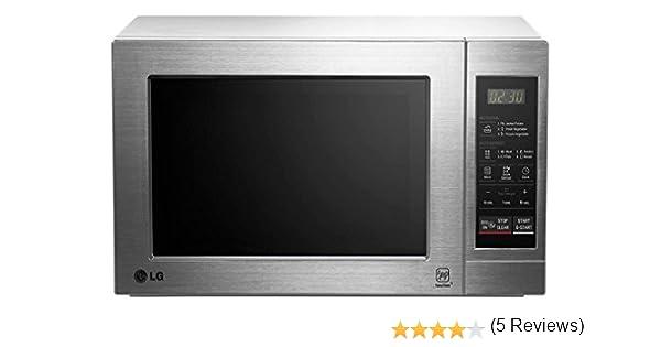 LG MH6044 VAT - Horno microondas con grill, color: plateado (potencia: 800 W, capacidad: 19 litros)