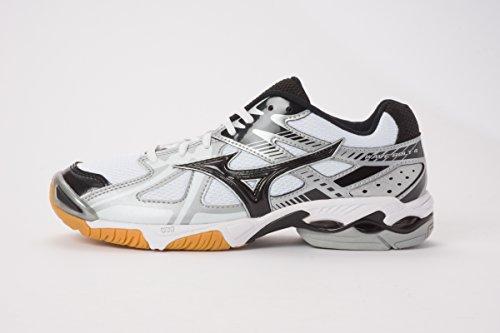 MIZUNO Men's WAVE BOLT 4 Indoors Volleyball Shoes V1GB156009 WHITE-BLACK-SILVER (US 12=EUR 46=JPN 30;)