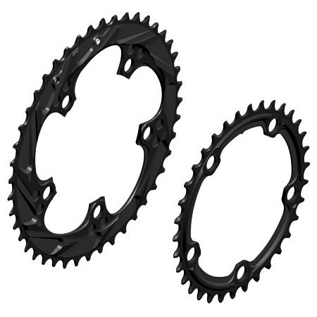 WickWerks 44/34t 110 BCD Cyclocross Chainrings by WickWerks (Image #2)