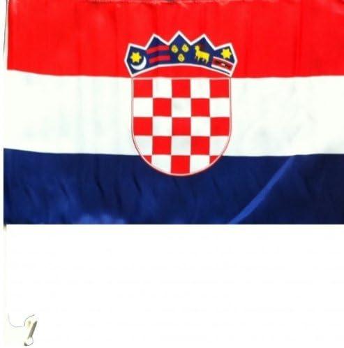 Amazon.es: 2 x Banderín Coche Bandera 45 x 30 Croacia Coche Bandera Banderas EM 2012 con soporte