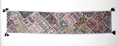 72''L Table Runner, Embroidery by Colors By Padmini