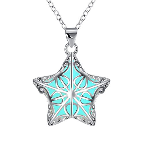[ELOI Magical Fairly Star Charm Steampunk Glow in the Dark Necklace Pendant Gifts for Teens Girls Lovers] (Best Friend Costumes Ideas Diy)