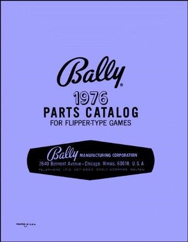 (1976 Bally Pinball Machine Coin-Op Game Parts Manual Catalog)