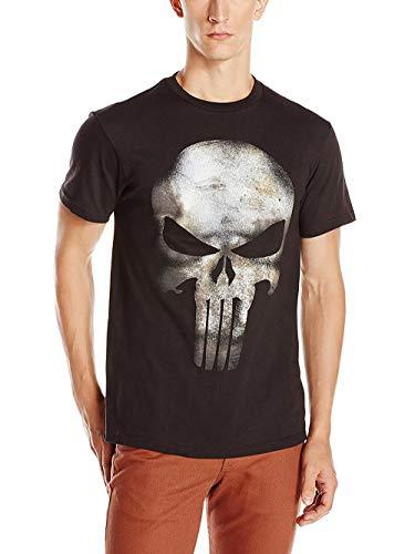 Punisher T Shirt (Marvel The Punisher Men's No Sweat T-Shirt, Black,)