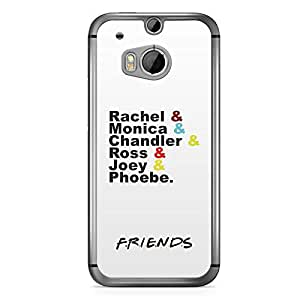 HTC One M8 Transparent Edge Case Friends Team