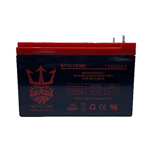 Neptune 12V 12Ah Nut & Bolt Battery SLA Sealed Lead Acid Rechargeable Replacement NT12-12 NB