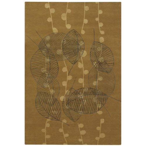 - Couristan 8090/0125 Impressions Tea Leaf/Honey Gold 8-Feet by 10-Feet Rug