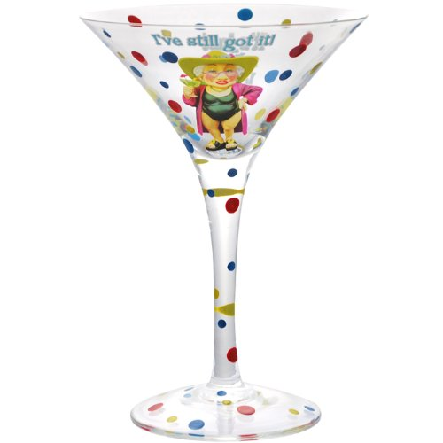 Westland Giftware 7-Inch Still Got it Martini Glass, 7-Ounce by Westland Giftware