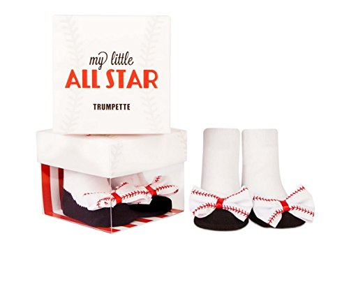 Trumpette Baby Girls' Socks-1 Pair, My My Little All Star - White, 0-12 Months ()