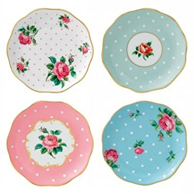 Pinky Pink Teaset Collection (Cheeky Pink New Country Roses Assorted Coasters set of 4)