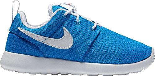 Nike Kids Roshe One Running Shoe Foto Blu / Bianco-arancio Di Sicurezza