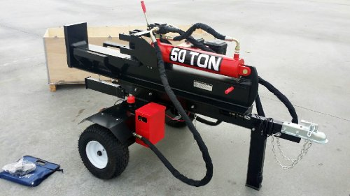 50 Ton Log Splitter Commercial Grade Hydraulic Wood 15HP 420cc Gas Engine