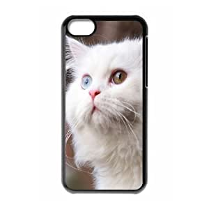 XiFu*MeiOkaycosama Funny iphone 5/5s Cases White Cat Design for Men, Case for iphone 5/5s for Men,XiFu*Mei