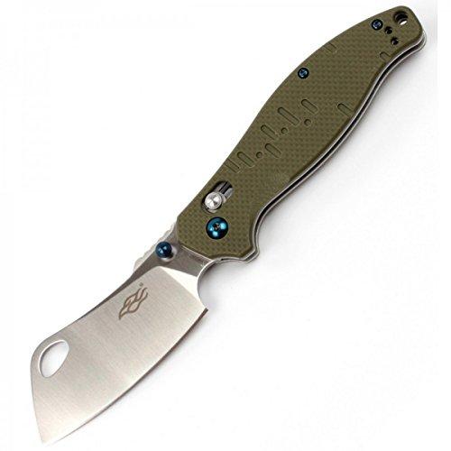 (Firebird Folding Knife F7551 by Ganzo Pocket Folding Hunting Knife Carbon Fiber Handle SS Blade (Green))