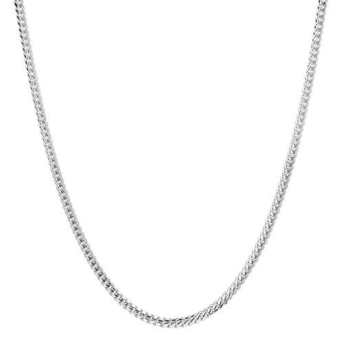 (NYC Sterling Unisex Italian 2.5mm Miami Cuban Curb Link Thick ITProLux Solid 925 Necklace Chain 16