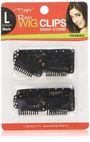 - 12 pcs Wig Clips Snap Comb Large 1 7/16