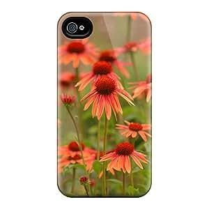 New Tpu Hard Case Premium Iphone 4/4s Skin Case Cover(variety Daisies)