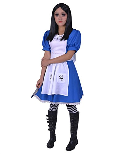 Madness Returns Costumes (Lvcos Madness Returns Alice Maid Unimorm Game Cosplay Costume (M))