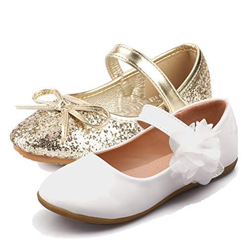 Nova Utopia Toddler Little Girls Ballet Flat Shoes,NF Utopia Girl NFGF312N2 Gold -