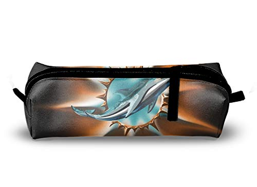 Miami Dolphin Charm School Pencil Pouch Case with Creative 3D Printing ()