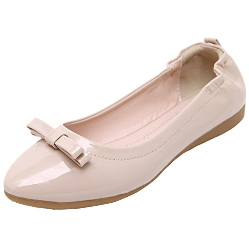 D2C Beauty Patent Women's Classic Patent Beauty Leather Bowknot Pointy Toe Ballet Flats B01I6M44FA Shoes 31eeb9