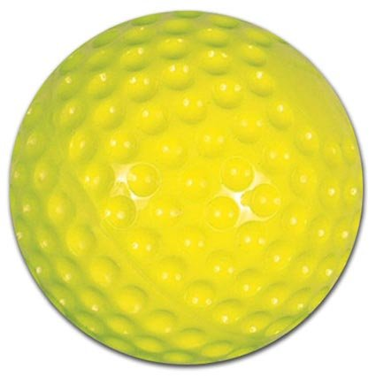 Champro Pitching Machine Dimple Molded Softball (Yellow, 12-Inch)(Pack of 12)
