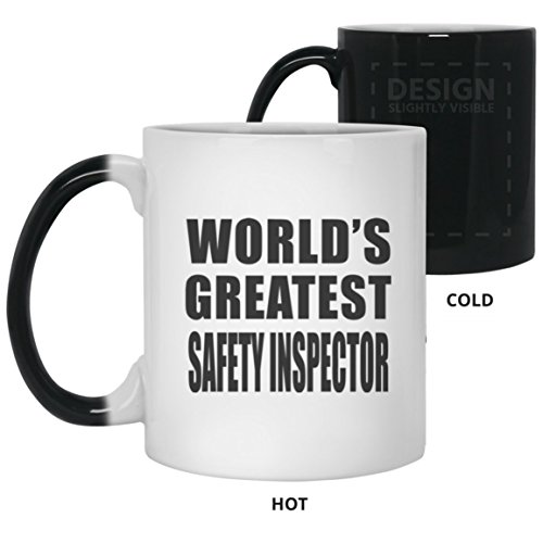 (World's Greatest Safety Inspector - 11 Oz Color Changing Mug Heat Sensitive Magic Cup Best Funny Gag Gift Idea for Friend Birthday Bday Christmas Xmas Engagement Wedding Anniversary)