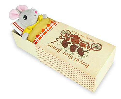 (Foothill Toy Co. Matchbox Mouse - Playset with Plush Toy Mouse in a Box,)