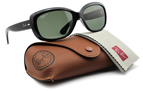 Ray-Ban RB4101 601/58 JACKIE OHH Sunglasses Black Frame / Polarized Green - Rb4101 Polarized