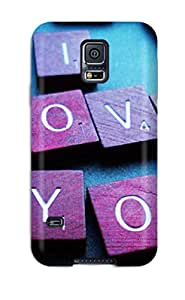 Hot Tpu Cover Case For Galaxy/ S5 Case Cover Skin - Love Cobes