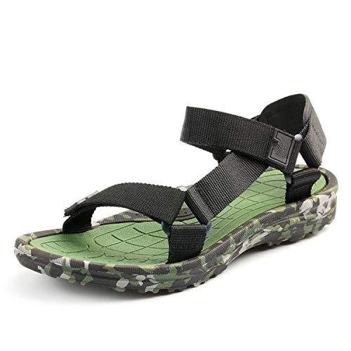 Composite Neoprene Football - Summer Beach Shoe Male Camouflage Water Slippers Sport Flat Flip Flops Outdoor Gladiator,Green,9.5