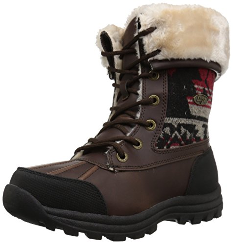 Lugz Womens Tambora Fashion Boot, Brown/Black/Red-Cream, 8 M US