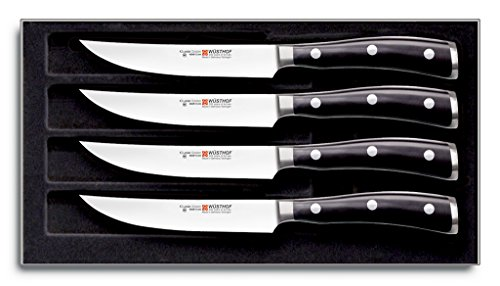 (Wusthof 9716 Classic IKON Four Piece Steak Set, 4, Silver)