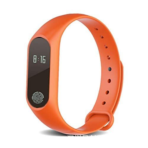 - Smart Bracelet Bangle for Men Man Women Girls Students General Pedometer Waterproof Multi-Functional Sports (Orange