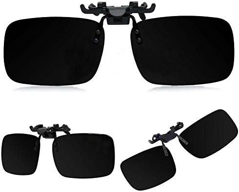 New Polarized Lenses Flip-Up Clip On Sunglasses UV400 Driving Outdoor Glasses