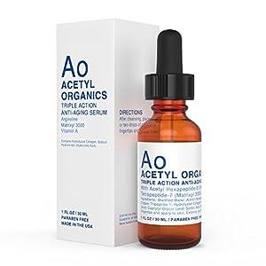 PREMIUM Anti-aging Serum with Argireline (20%), Matrixyl 3000 (20%), Retinyl Acetate (Vitamin A). Best Argireline Serum / Cream For Eyes, Wrinkles. Hyaluronic Acid. 100% Risk Free Offer.