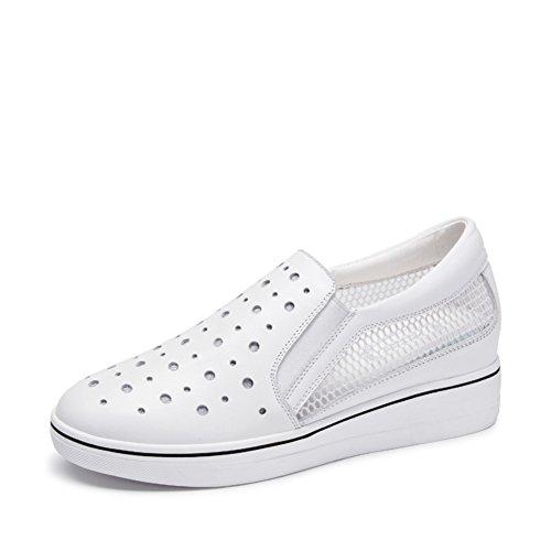 Zapatos ocasionales de las mujeres/Hueco gruesa en el extremo de la zapata/Zapatos de aumento de altura/Mocasín/Pie plano zapatos A